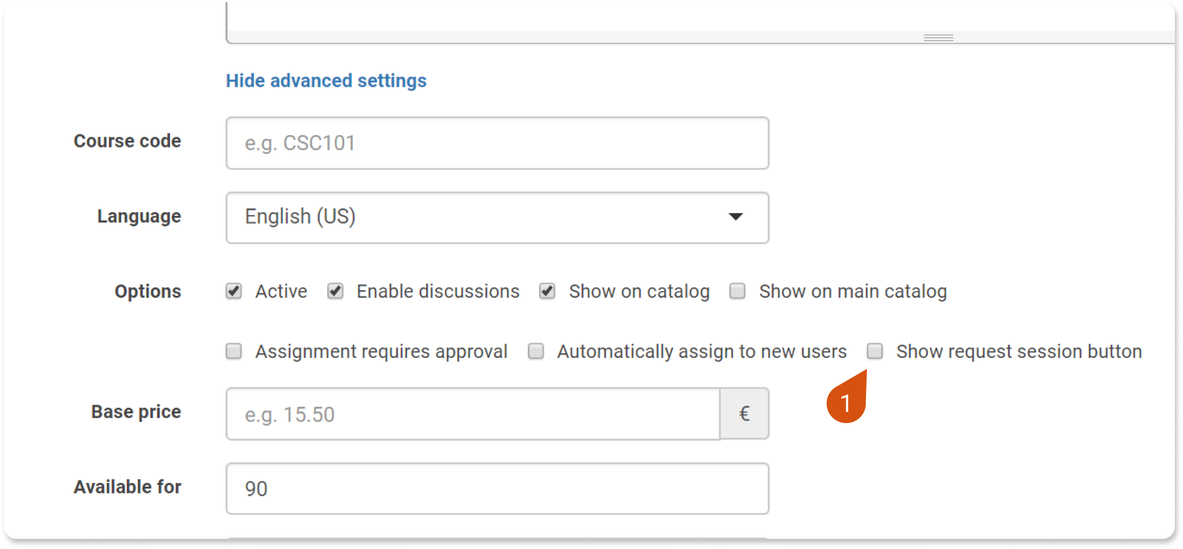 To Enable Users To Ask For New Sessions To Be Added To A Training Event As A Course Owner Go To The Blended Courses Advanced Settings And Check The